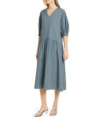 women's sea tabitha drop waist stretch cotton midi dress