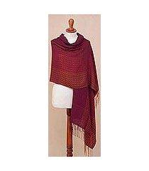 alpaca blend shawl, 'inviting beauty' (peru)