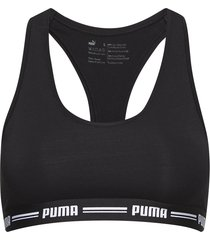 puma iconic racer back bra 1p lingerie bras & tops soft bras svart puma