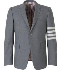 striped sleeves blazer