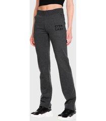 pantalón de buzo everlast basic casual two gris - calce regular