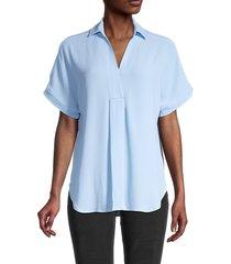 cooper & ella women's dolman-sleeve shirt - cerulean - size s