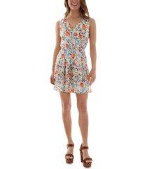 bcx juniors' floral-print tiered dress