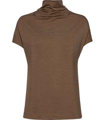 luca tencel top t-shirts & tops short-sleeved beige residus