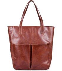 bolsa sacola ombro mantoan  couro alça fixa elegante marrom