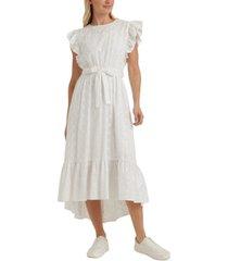lucky brand reese flutter-sleeve dress