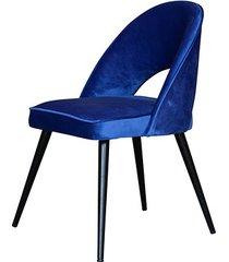 stylowe krzesło elipso niebieskie