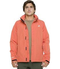 chaqueta impermeable pumalin rojo andesgear