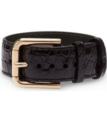 dolce & gabbana buckle-fastening bracelet - black