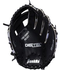 "franklin sports 9.5"" rtp teeball performance glove black/white-left handed thrower"