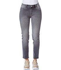 jean skinny desgastado gris claro