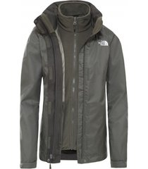 the north face jas women evolve ii triclimate jacket new taupe green-xs