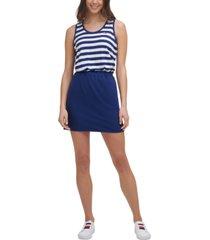tommy hilfiger sport women's striped colorblocked dress
