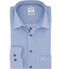 olymp shirt luxor comfort fit lichtblauw geprint