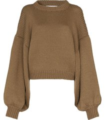 i love mr mittens chunky knitted jumper - neutrals