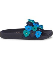 jack rogers women's flower pool slides - magenta - size 6 sandals