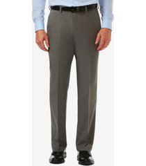 men's haggar cool 18 pro classic-fit expandable waist flat front stretch dress pants