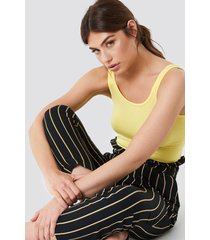 trendyol basic jersey top - yellow