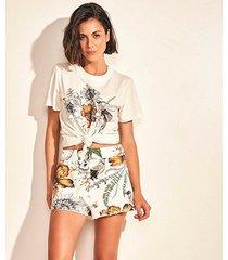 camiseta colcci nature feminina - feminino