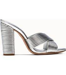 schutz sandali emma dale colore argento