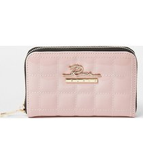 river island womens pink patent quilted ziparound purse