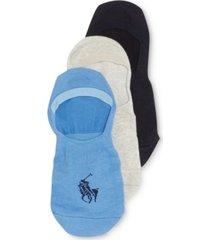ralph lauren men's no show liner socks 3 pack