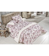 cobre leito aruba queen 03 peças - rosê bordados ricardo