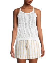 bcbgeneration women's halter sleeveless sweater - white - size s