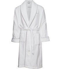 premium velour robe morgonrock badrock vit gant