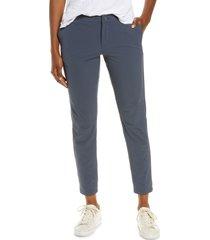 l.l.bean women's explorer slim fit stretch ripstop pants, size 8 in gunmetal gray at nordstrom