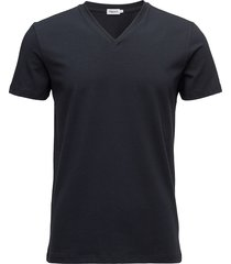 m. lycra v-neck tee t-shirts short-sleeved blå filippa k