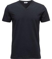 m. lycra v-neck tee t-shirts short-sleeved blå filippa k