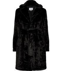 viboda new faux fur coat/pb/su outerwear faux fur svart vila
