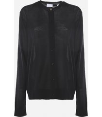 burberry wool blend cardigan with embroidered monogram