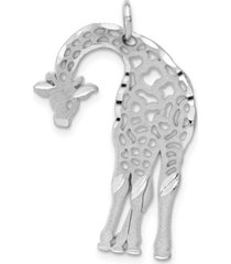 flat-backed giraffe charm in 14k white gold
