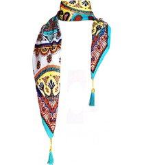 pañuelo lana nueva delhi turquesa viva felicia