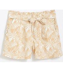 loft palm tie waist shorts