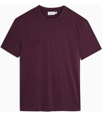 mens red burgundy oversized cupro t-shirt