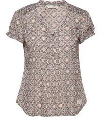 perfect print blouse blouses short-sleeved grå odd molly