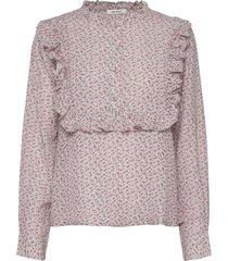 jacqueline shirt blus långärmad rosa nué notes