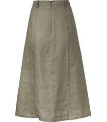 rok 100% linnen in a-lijn van peter hahn groen