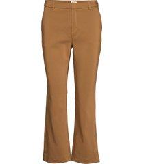sim trousers broek met wijde pijpen bruin twist & tango