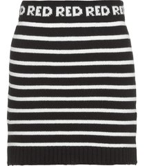 red valentino knitted mini skirt with stripes
