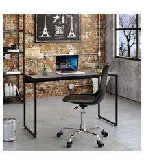 mesa de escritório studio preta 120 cm