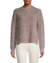 french connection women's narelle mixed-knit sweater - size l