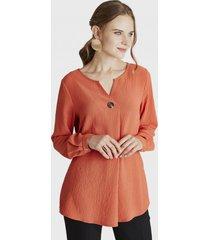 blusa cuello redondo naranjo lorenzo di pontti