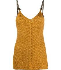forte forte v-neck knitted vest - neutrals