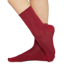calzedonia short cotton socks with comfort cut cuffs woman red size 39-41