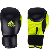 luvas de boxe adidas power 100 smu colors - 12 oz - adulto - preto/amarelo fluor
