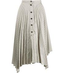 acne studios pleated asymmetric skirt - grey